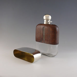 Crocodile Skin Flask
