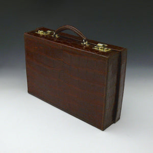 Crocodile Skin Attache Case