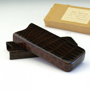 Crocodile Skin Glasses Case