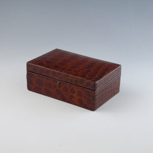 Crocodile Skin Stud Box