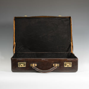 Dark Brown Leather Norfolk Hide Attaché