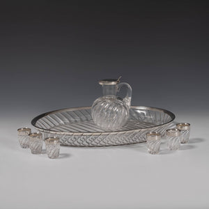 Wrythen Glass Drinks Set