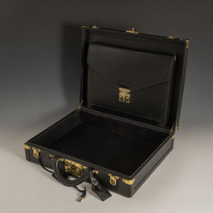Louis Vuitton Black Leather Attaché Case