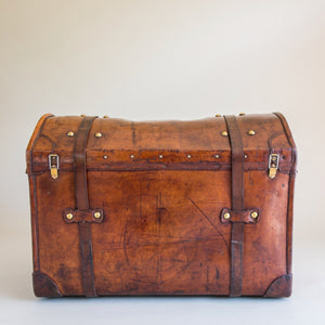 Leather Dome Topped Trunk