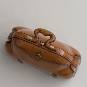 Carved Wooden Miniature Bag