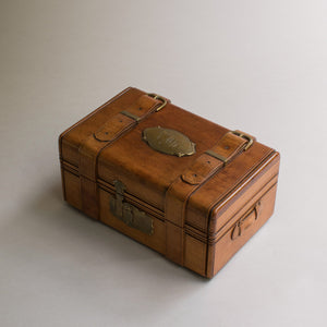 Carved Wooden Box/Miniature Trunk