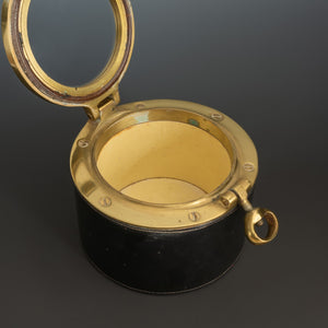 Leather and Brass 'Porthole' Box
