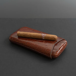 Victorian Crocodile Skin Cigar Case