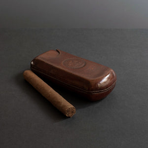 Victorian Leather Cigar Case by Strickland