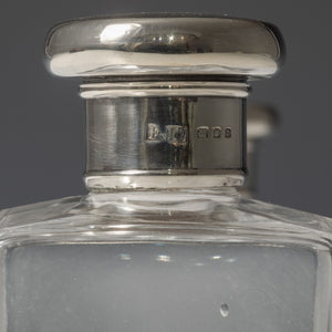 Leather Cased Silver Top Bottles