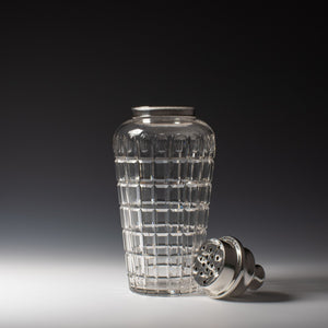Large Cartier Cut Glass Cocktail Shaker