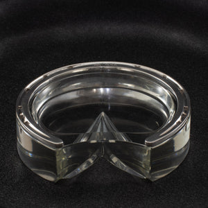 Cut Glass and Silver Horseshoe Ashtray