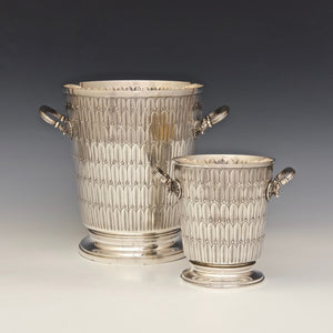 Matching Silver Wine Cooler and Ice Cube Bucket
