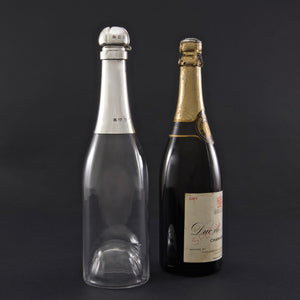 Silver Mounted Champagne Bottle Decanter