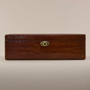 Crocodile Skin Jewellery Box