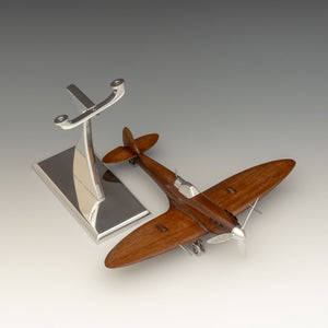 Carved Mahogany Spitfire Model as Lighter