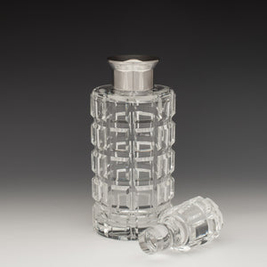 Cylindrical Cut Glass Decanter