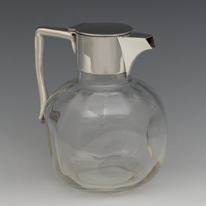 Silver Topped Glass Claret Jug