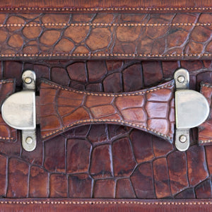 Crocodile Skin Suitcase