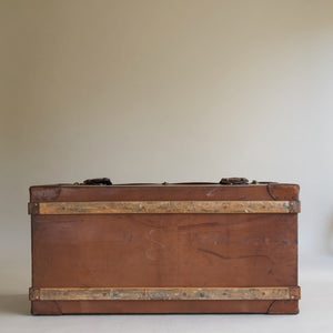 Leather Steamer Trunk by Finnigans