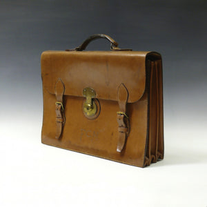 Mid Tan Leather Briefcase