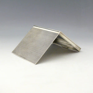 Reeded Silver Cigarette Case