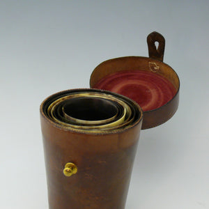 Cased Set of Horn Beakers