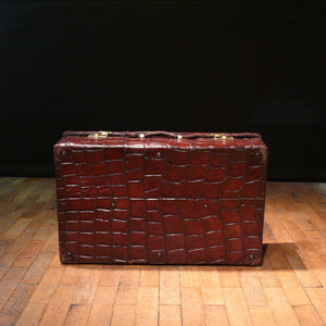 Large Crocodile Skin Suitcase