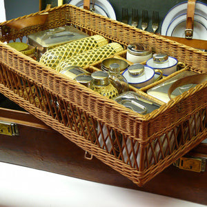 Leather Picnic Hamper for Six