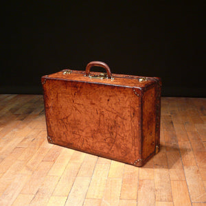 Louis Vuitton Dark Tan Leather Suitcase