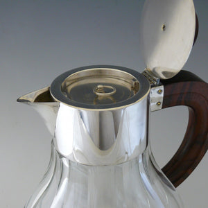 Rosewood  and Silver Plate Jug