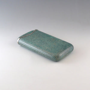 Shagreen and Silver Cigar Case