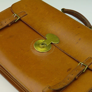 Three Pocket Leather Briefcase