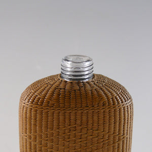Wicker and Silver Flask