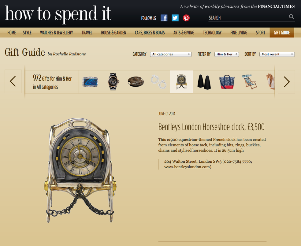 FT – HOW TO SPEND IT, GIFT GUIDE