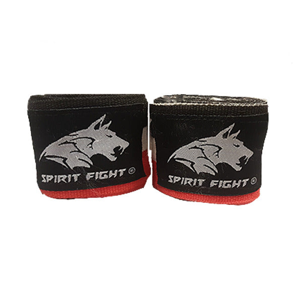 Bandes Boxe Noir Blanc Rouge 2,5 m Spirit Fight