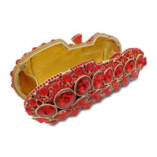 Load image into Gallery viewer, Red Crystal Luxury Diamonte Clutch - RED VALENTEEN     Luxury gifts