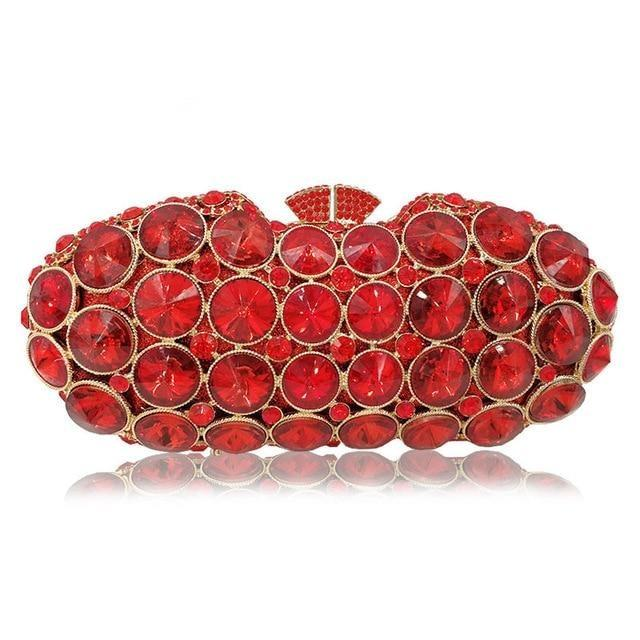 Red Crystal Luxury Diamonte Clutch - RED VALENTEEN     Luxury gifts
