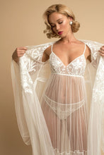 Load image into Gallery viewer, Ivory Sheer Nightwear Set