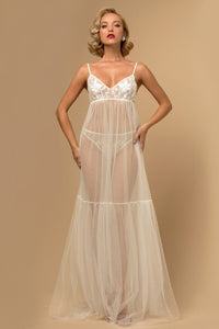 Ivory Sheer Nightwear Set