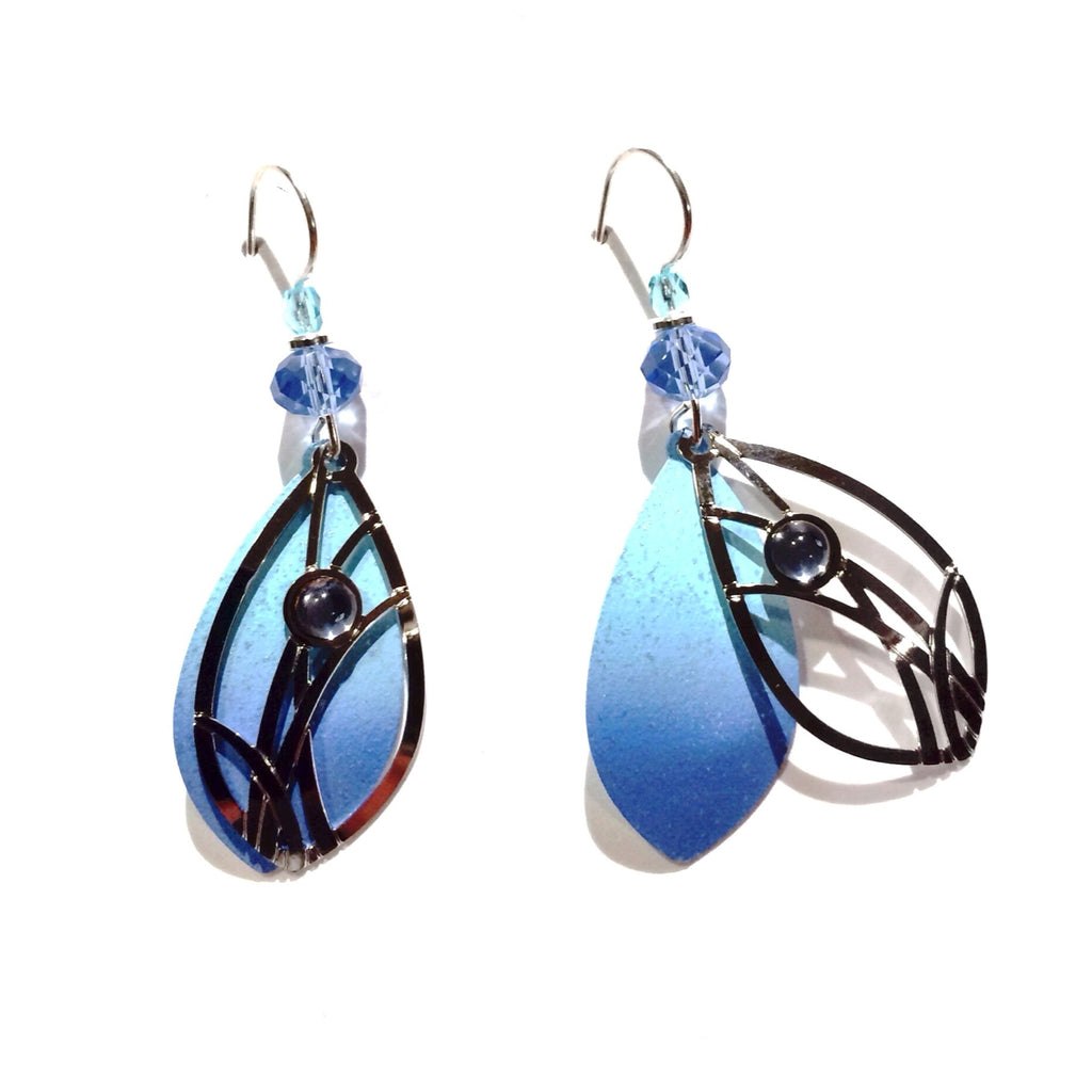 Blue and Silver Petal Earring by Adajio, $20 | Sterling Silver | Light Years Jewelry