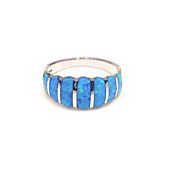 Blue Opal Stones Ring, $32 | Sterling Silver | Light Years Jewelry