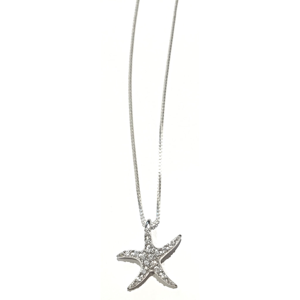 CZ Starfish Necklace, $22 | Sterling Silver | Light Years Jewelry