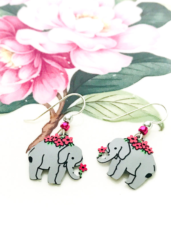 Elephant Flower Dangles by Sienna Sky | Sterling Silver | Light Years
