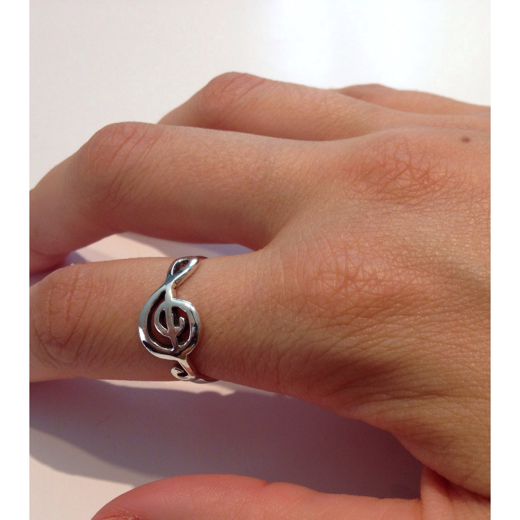 Treble Clef Ring, $12.50 | Sterling Silver | Light Years Jewelry