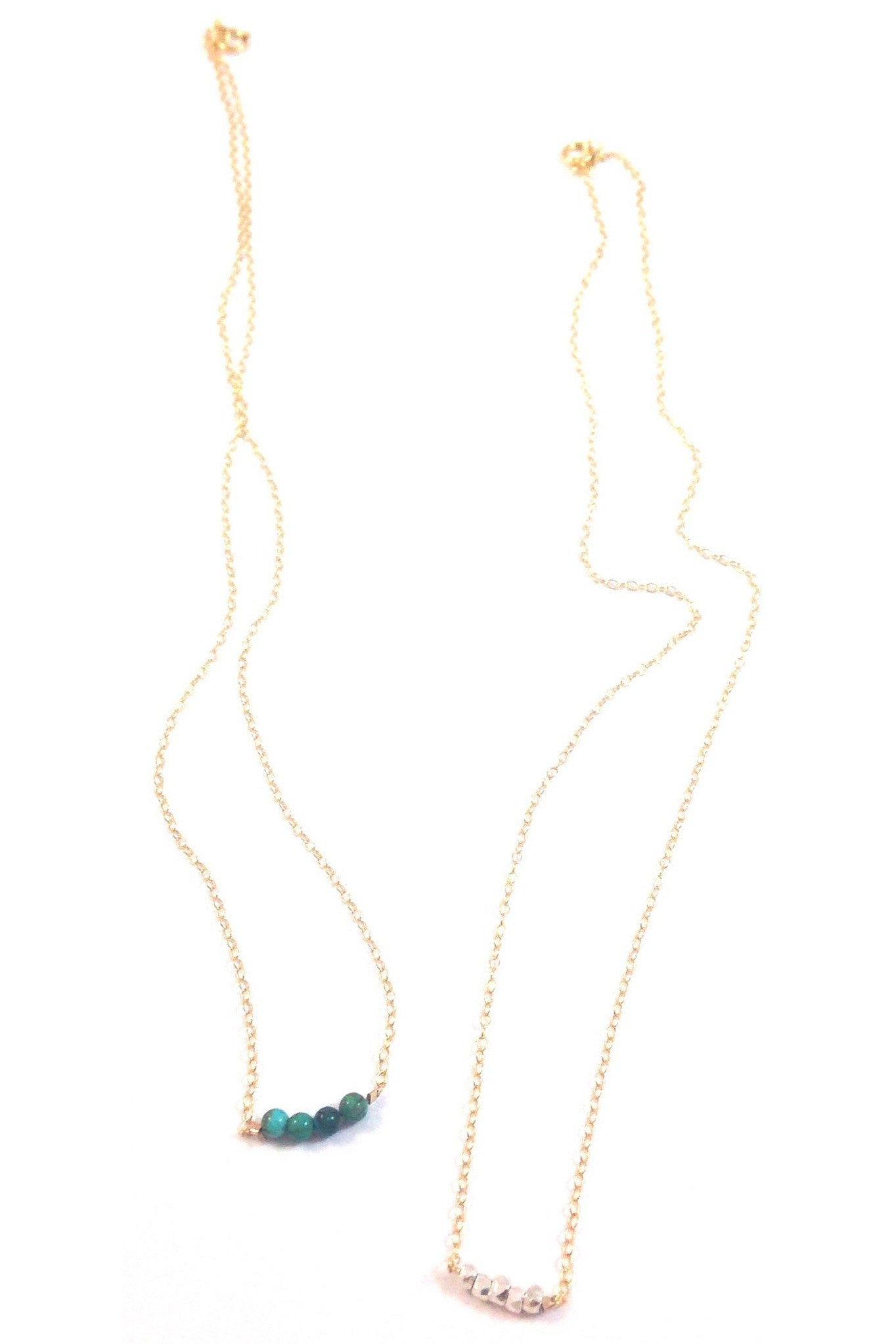 14kt Goldfilled Necklace with stones or beads, $28 | Light Years Jewelry