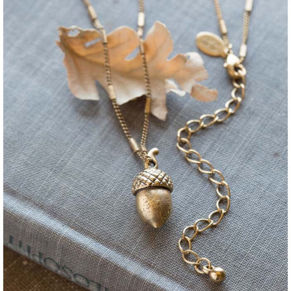 Acorn Necklace by Amano, $32 | Gold Plated Brass | Light Years Jewelry