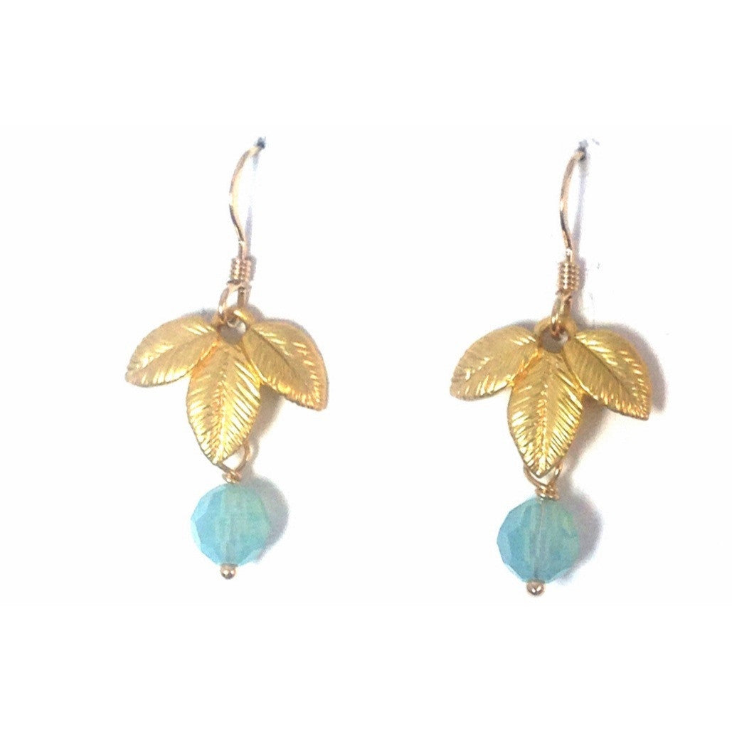 Exotic Leaf And Pacific Opal Earrings, $18 | 14kt Gold Filled | Light Years Jewelry