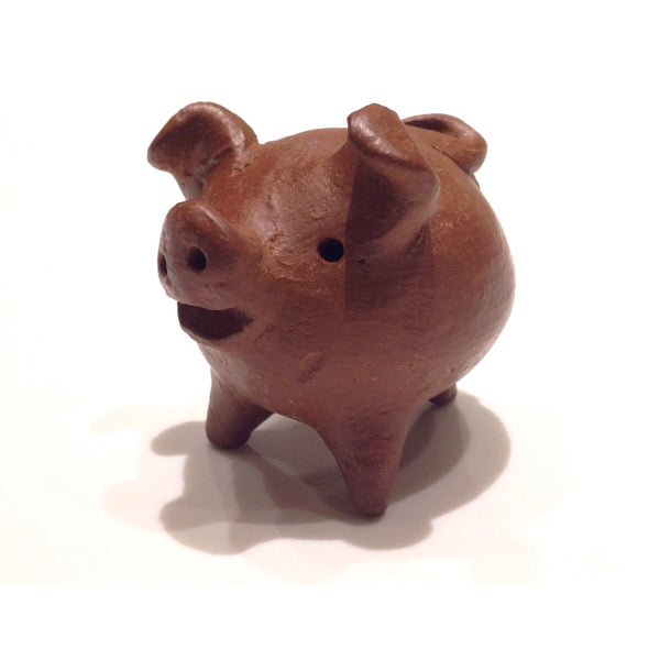 Three-legged Clay Lucky Pig, $4.25 | Light Years Jewelry