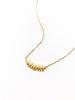 Leafy Branch Necklace | Gold Plated Chain Pendant | Light Years Jewelry